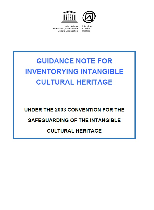 guidance note for inventorying intangible cultural heritage